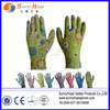 transparent floral nitrile gardening gloves