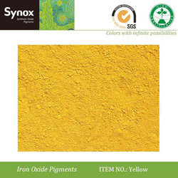 Synthetic yellow iron oxide colored asphalt