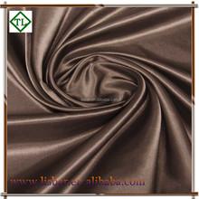 Factory price khaki satin drapery fabric for coat
