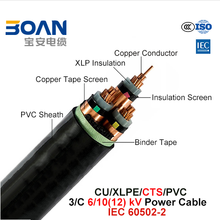 XLPE MV Power Cable 6/10(12)Kv 3/C IEC 60502-2