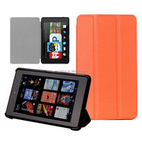 Leather cover case for Amazon Fire hd 6 case cover light weight 2014 October released with sleep function stock offer