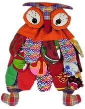 Bellamente mano de algodón hecho a mano búho mochila Kids niños en edad preescolar colorido libro Schoolbag Owl étnico mochila