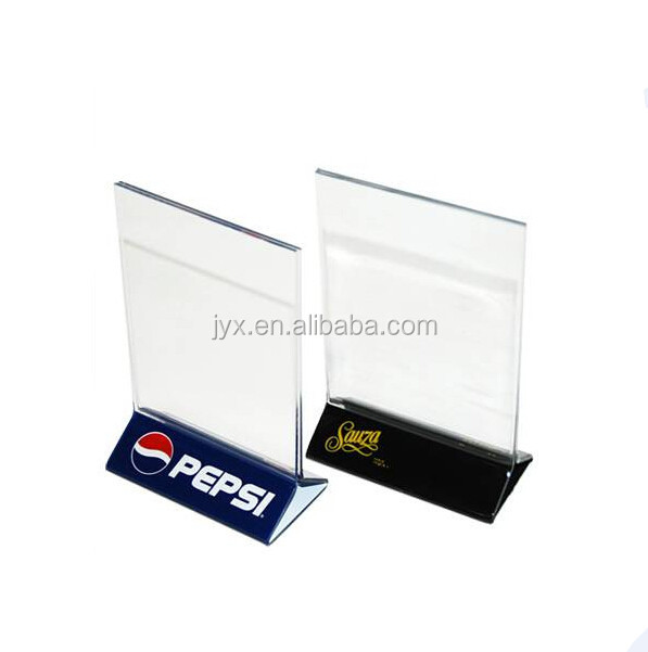 Clear Acrylic Plastic Menu Holder Table Tent With Logo Printing On - Acrylic table tent holders