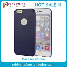 Hot sale oem PU leather snap-on cell phone case for iphone 6