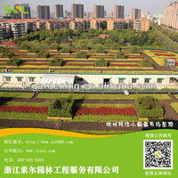 2014 new rooftop gardening product, plastic rooftop garden planters system