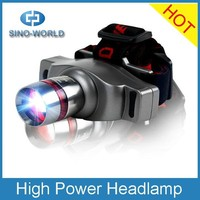 High power rechargeable aluminum focus hiway head lamp high power zoom headlamp zoomer