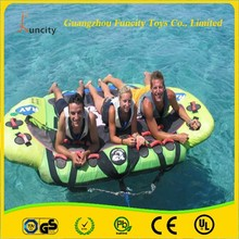 Exciting hot sale flying fish toys/inflatable towable banana boat