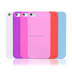 Ultra Thin Slim Candy Color Soft TPU Cover Case Skin for iPhone 5 5S