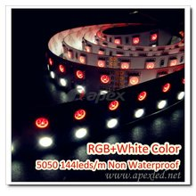 double line led strip lighting smd 5050 144LEDs 3M ADHESIVE TAPE