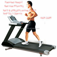 Guangzhou Fitness Equipment Manufacturer Commercial treadmill 5HP AC Motor with User Maximum Load 200KG AMA2086