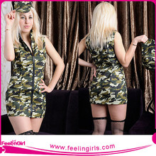 Factory Wholesale Women Hot Fashion Sexy Military Uniform