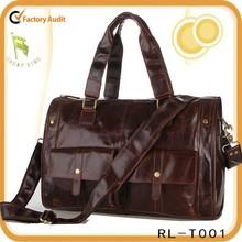 Genuine leather travel bag handbag duffle bag for men