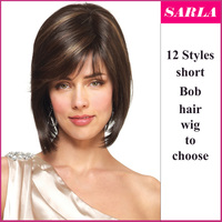 Wholesale cheap two tone synthetic bob hair wigs highlight color hair wig