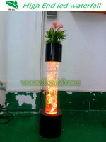 led column / pillar with flower christmas lights wedding decorations
