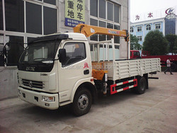 truck mounted folding arm crane,4t mini crane for sale