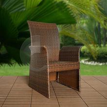 Muebles de jardín respaldo alto de la rota sillas para exterior