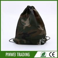 small custom material jute nylon cotton fabric drawstring bag wholesale