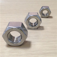 stainless steel iso 4032 hex nut passivated