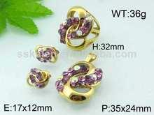 popular y valioso con estilo puple piedra china en la configuración de joyería catálogo