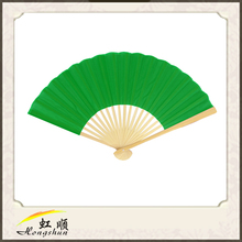 Grass Green Japanese Folding Silk Hand Fan For Wedding Commodity For Wedding Favors