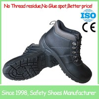 Safety boot reasonable prices Black Leather Water Resistant Industrial Men Work Safety Boots
