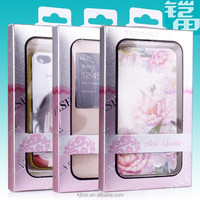 customized new design paper packaging box for iphone case with PVC window KJ-327