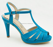 Women fashion shoes ankle strap T-strap china wholesale gladiator high heel shoes