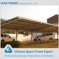 Steel frame metal roof design car parking shed