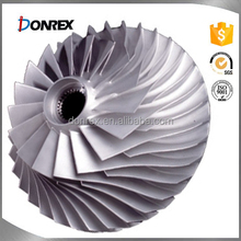 OEM service iron and stainless steel casting turbo impeller