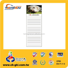 magnetic notepad non-sticky notes labrador dog for promotional gift