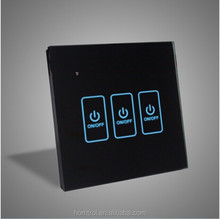 Intelligent Touch Screen Light Control Switch, iPhone/Android Remote Control Wifi Light Switch For Home Automation