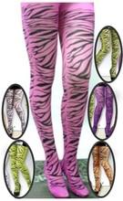 40D Adult rhythm tights, print tiger stripe