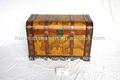 estilo antiguo de madera del tronco de almacenamiento con mapa del mundo patrón