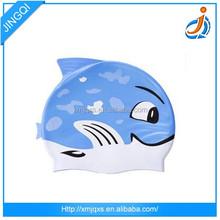 Wholesale animal shaped blue silicone swim cap fetish