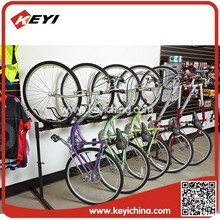 Aleación spacesaver Stand up visualización bicicleta portabicicletas
