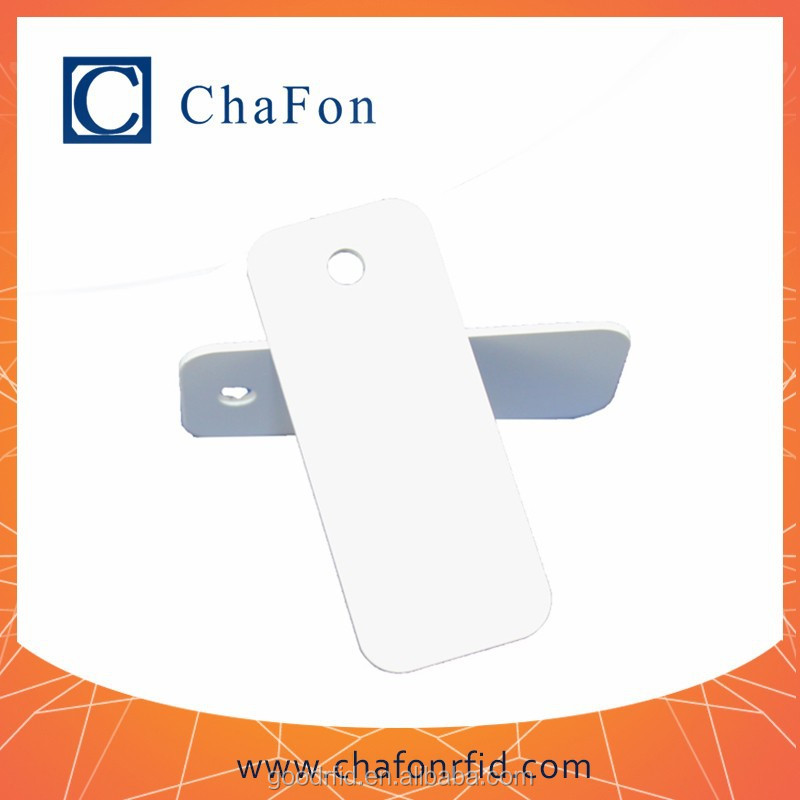 logo engraved jewelry tag charm support ISO15693 protocol with I-code2 chip made by PVC material