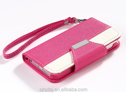 Wholesale PU Leather Wallet Flip Case for iPhone 6 Plus with Card Holder