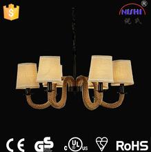 Rope Light 2015 Home Hanging Light Hemp Rope Pendant Lamp NS-125001