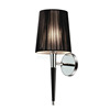 2015 hotel bedroom pleated wall light with chrome plating W1021