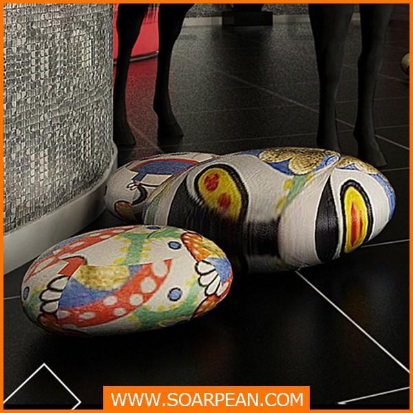 Resina pedra artesanato com pintura da cor