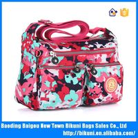 Girls fashion cotton print bag single shoulder bag for ladies fashion nylon new shoulder bags