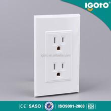 America standard wall electric / power double socket us