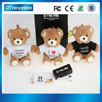 A cute bear is move power charger