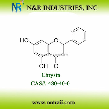 High purity 5 7-Dihydroxyflavone 99% HPLC 480-40-0 Chrysin powder
