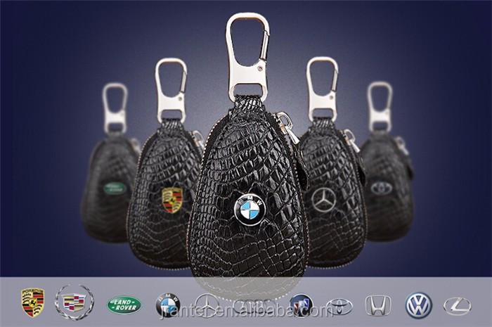 Luxury handmade key case for car genuine crocodile leather car key case for BMW TOYOTA _3