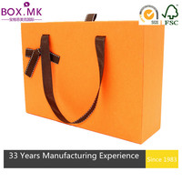 High End Orange Square 300 Gsm Paper Box Packaging