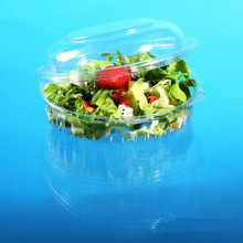 Great deal PET salad container.fruit container with higned lids