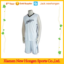 White color high quality basketball jersey/basketball uniform/basketball wear