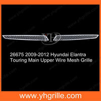 Main Upper Hyundai Elantra Car Bumper Front Parts Chrome Wire Mesh Grille