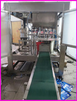 rotary table automatic filling machine made plastic bag liquid filling capping equipment